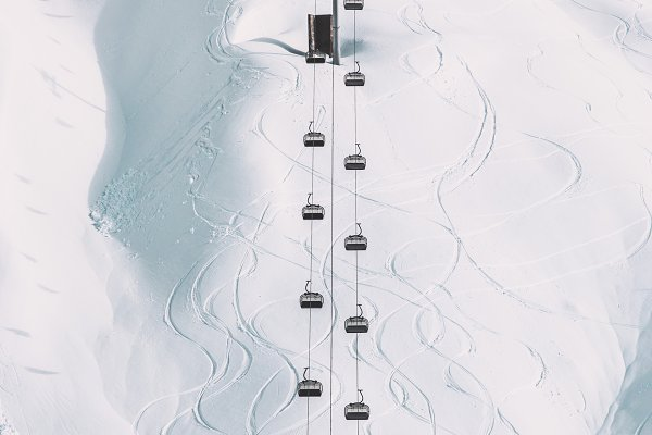 Transportation Stock Photos: e v e r s t - Funicular Cable cabins winter