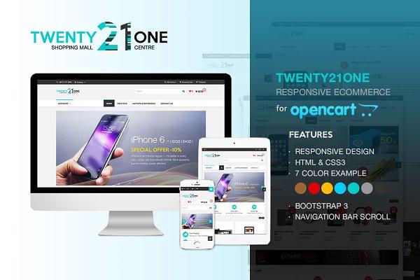 OpenCart Themes: Ake Design - Twenty21One - OpenCart