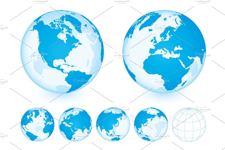 Australia Map Globe.Globe With World Map Blue