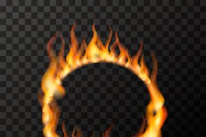 Fire flames in circle shape