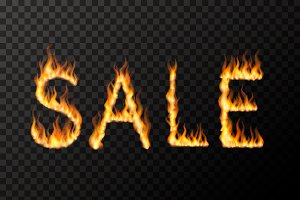 Hot fire SALE phrase