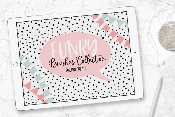 Photoshop Brushes: Patrycja Dolata - Funky Brushes Collection (Procreate)