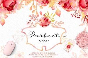 Purfect Ginger Watercolor Design Kit