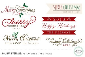 Holiday Overlays - Layered .psd file
