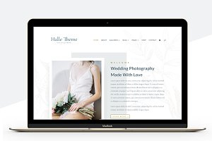 Halle Photography Divi Child Theme