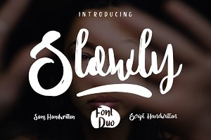 Slowly Font Duo [OFF 50%]