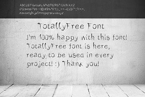 TotallyFree Semi-script font