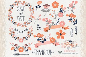 Flower Clipart and Vector – Flora 07