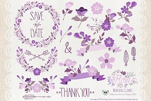 Flower Clipart and Vector – Flora 08