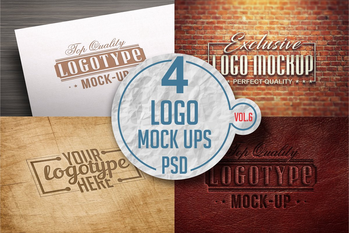 Logo Mock-up Pack Vol.6