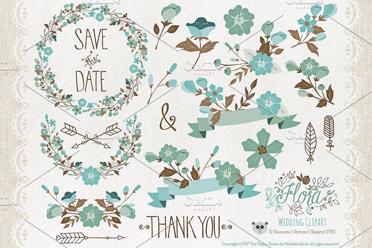 Flower Clipart and Vector – Flora 09