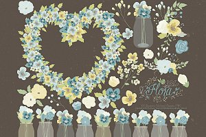 Flower Clipart and Vector – Flora 19