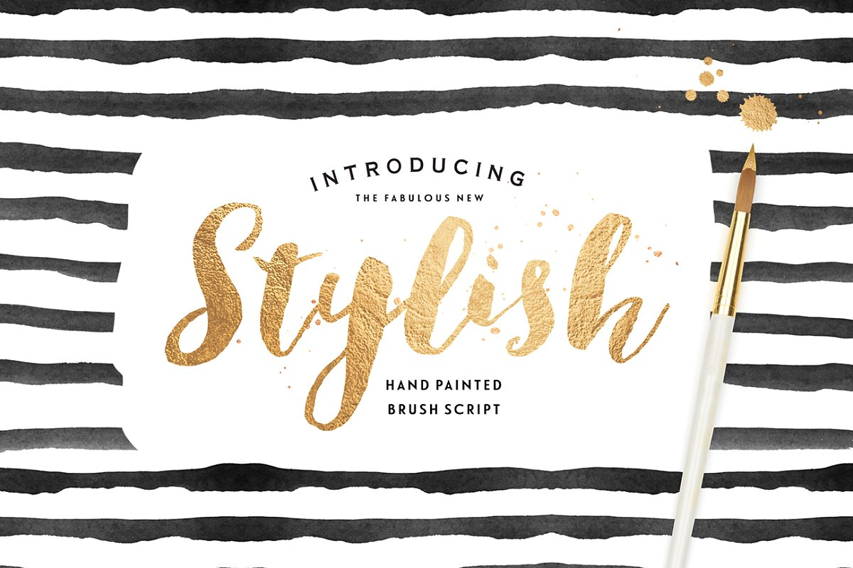 Stylish Brush with Bonus ~ Fonts ~ Creative Market