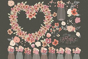 Flower Clipart and Vector – Flora 20