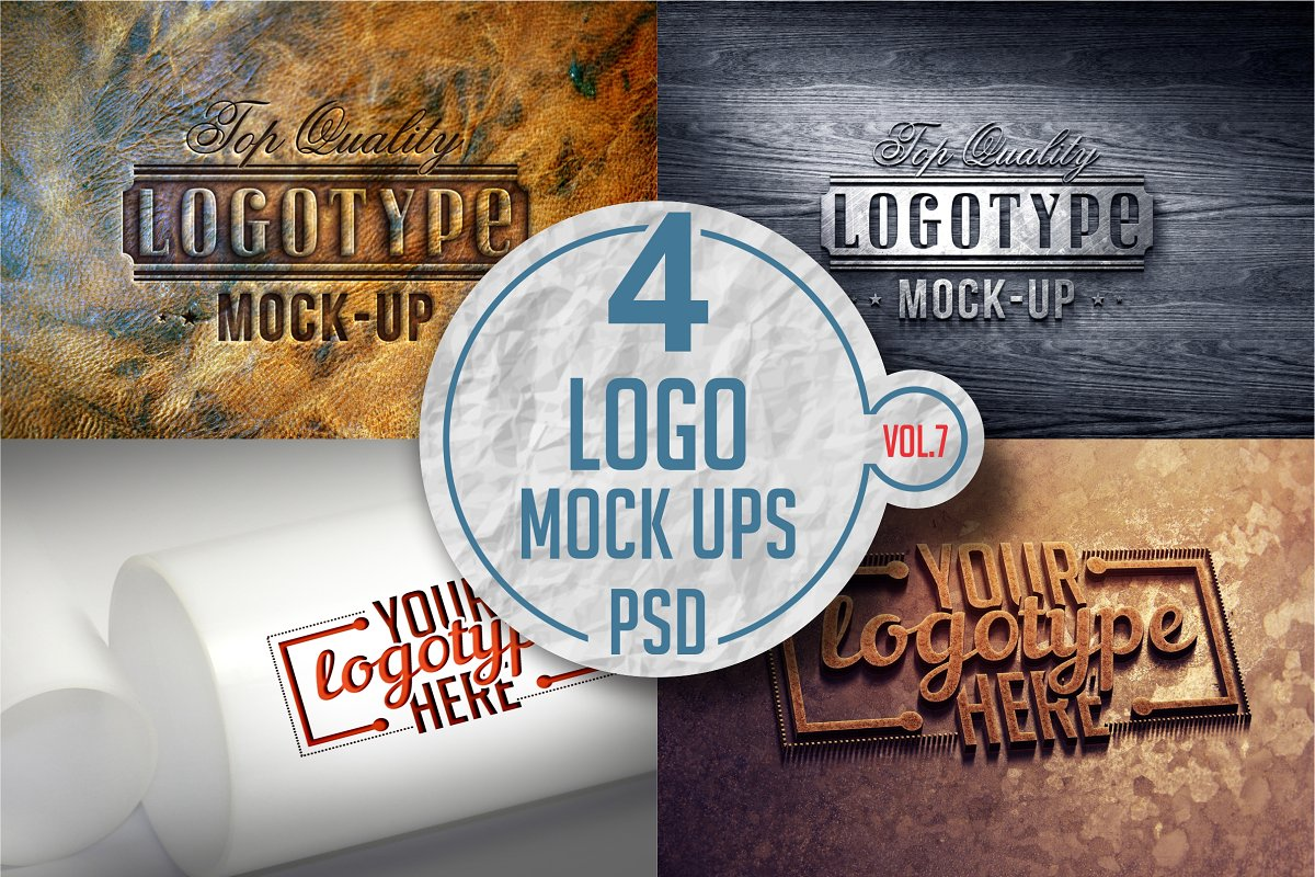 Logo Mock-up Pack Vol.7