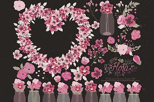 Flower Clipart and Vector – Flora 22