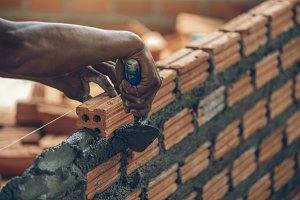 Closeup hand professional constructi