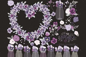 Flower Clipart and Vector – Flora 23