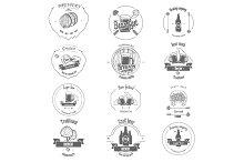 Set of Beer Craft Badges.