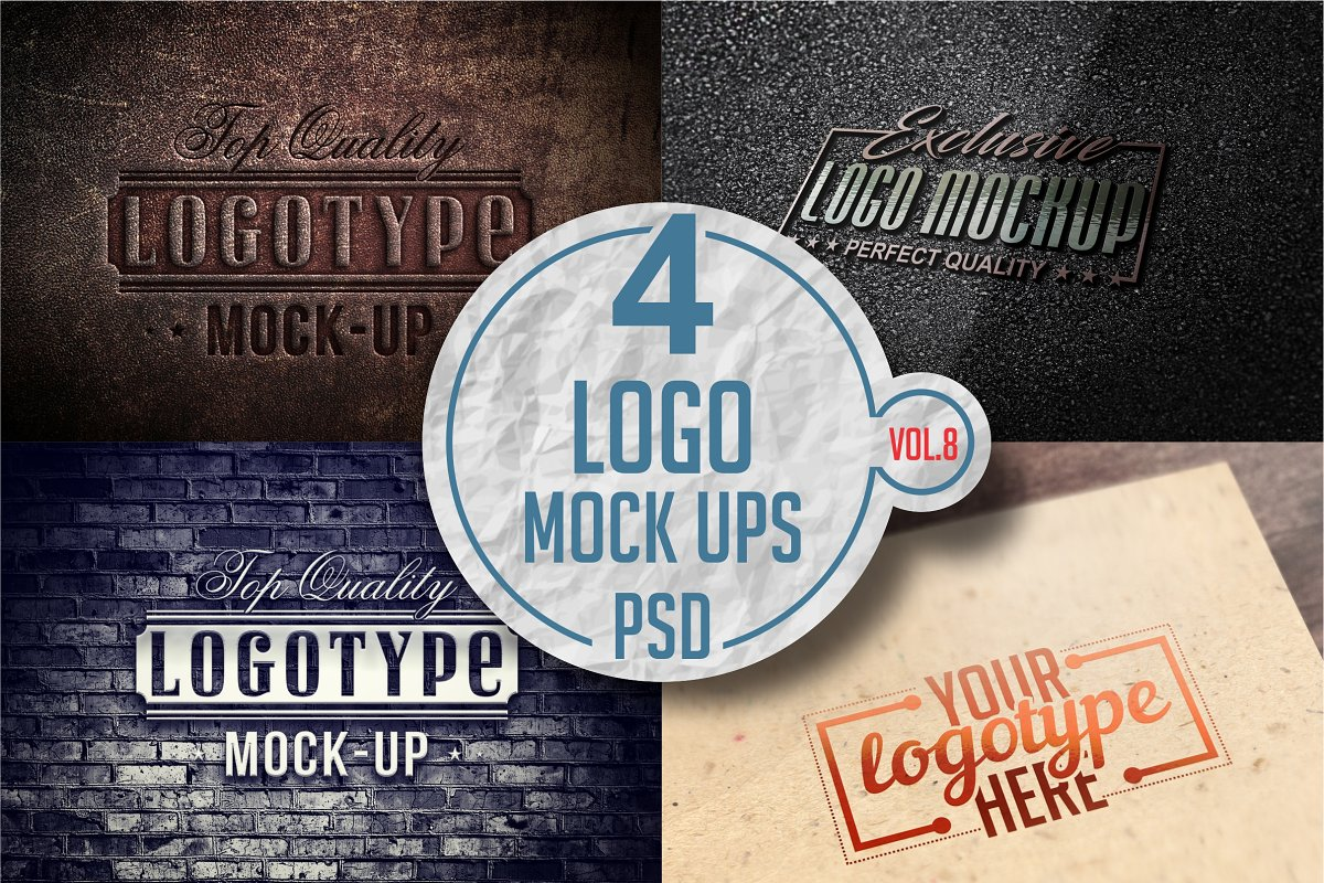 Logo Mock-up Pack Vol.8