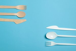 Plastic and Bamboo Cutlery, Plastic