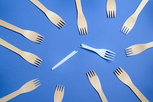 Say No to Plastic Cutlery, Plastic P