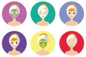 types of facial masks and skin care