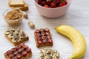 Healthy breakfast with ingredients