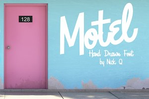 Motel Hand Drawn Font