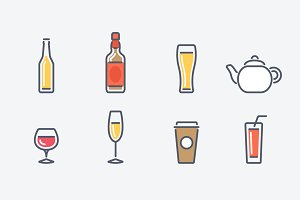 16 Drinks Icons