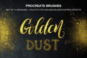 Golden Dust Procreate brushes