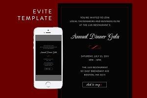 Formal Dinner Evite PSD Template
