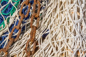 Chain on a fishing net (02)