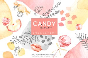 """Candy Bar"" Watercolor collection"