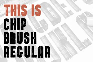 Chip Brush Regular - Brush Font