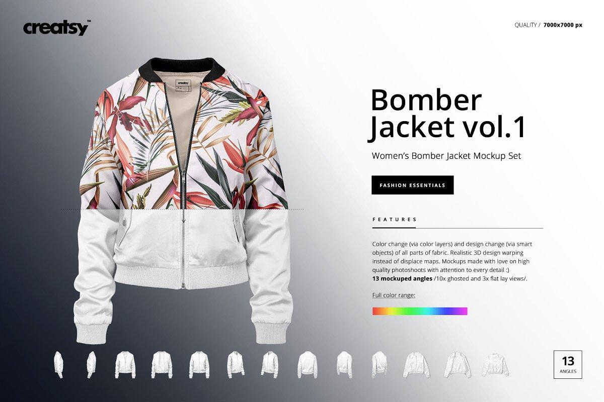 Women's Bomber Jacket Mockup Set v.1