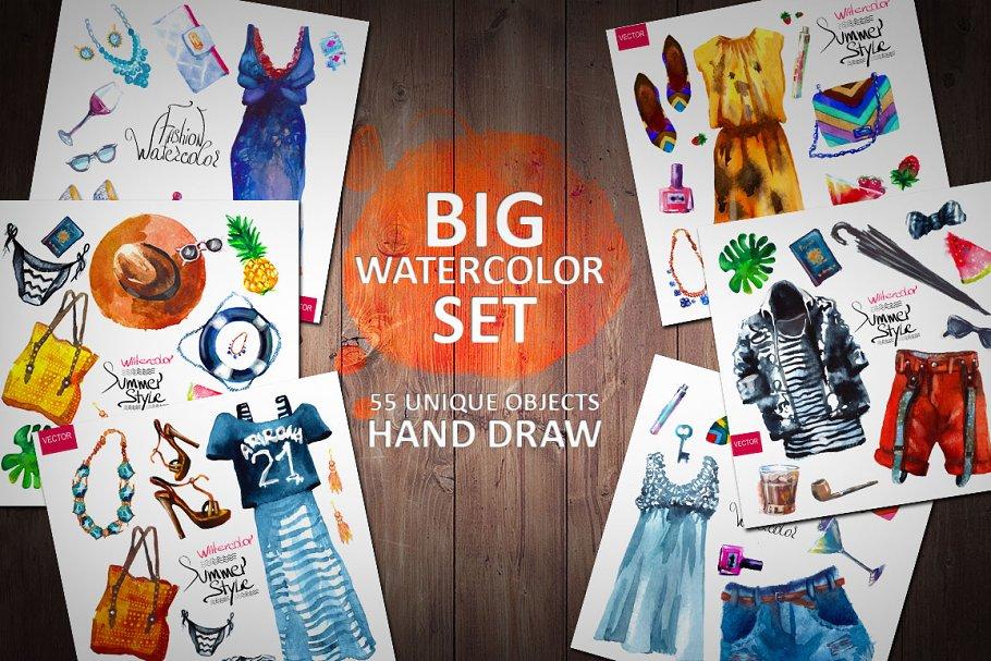 Vector Fashion Collection Pre Designed Illustrator Graphics Creative Market