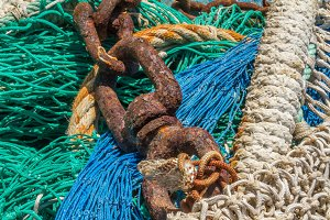 Chain on a fishing net (06)