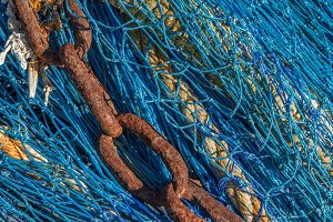 Chain on a fishing net (07)