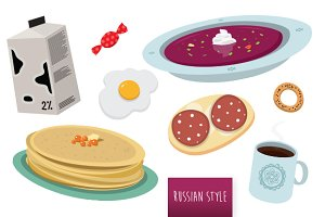 Russian home style vector food