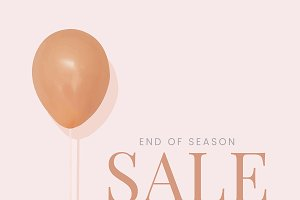 Sale promotion ad poster design