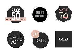 Set of sale promotion design