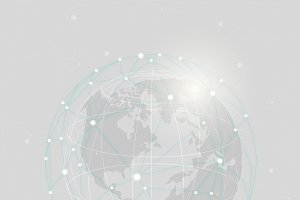 Worldwide connection gray background