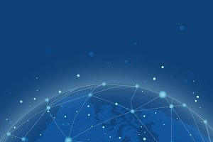 Worldwide connection blue background