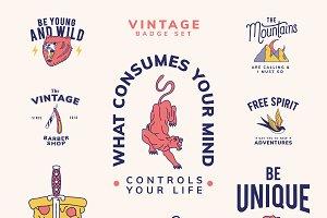 Set of vintage badges design