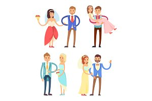 Brides and Grooms Collection Vector