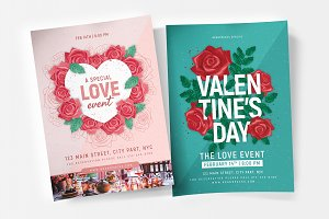 Valentines Flyer & Poster Templates