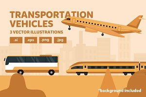 Transportation Vector Illustrations