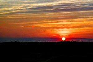 Sunset panorama landscape at arabian