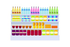 Supermarket Products Variety Vector